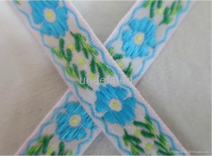 民族风彩色提花织带 1