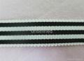 优质涤纶加密三色条纹间色织带