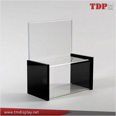 Acrylic Suggestion Box with Sign Holder for Memo Pad