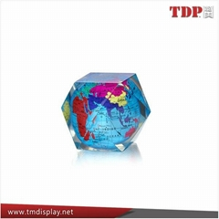 Acrylic Resin Global Paperweight For Gifts for souvenir