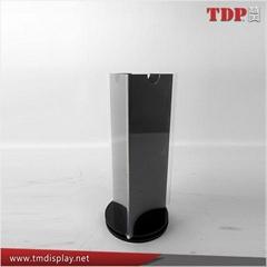 wholesale triangle rotating acrylic  menu holder menu stand