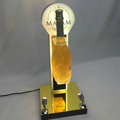 Customize Acrylic Wine Rotating Display Stand Plexiglass Wine Glorifier
