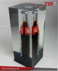 Factory Custom Crystal Resin Embedded Beer Bottle Block