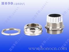 上海焕诺电气HONO黄铜镀镍电缆接头