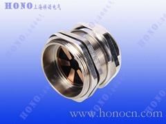 上海焕诺电气HONO黄铜镀镍屏蔽电缆接头