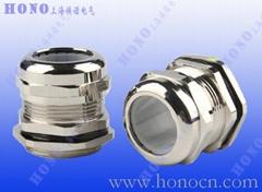 上海焕诺电气HONO耐高温黄铜镀镍电缆防水接头
