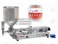世峰电器厂家供应小型半自动辣椒酱灌装机