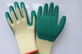 work safety  latex coated gloves  2