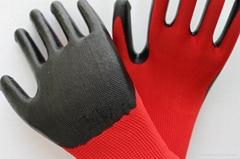 work safety nitrile coated gloves