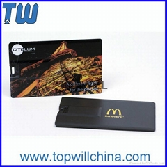 Plastic Credit Card Usb Flash Drives Full Color Digital Printing Free Design