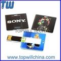 Square Card USB Pen Drive Free Printing