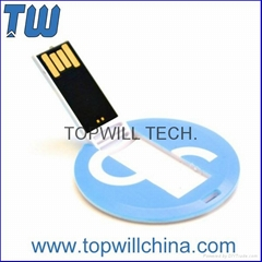 Round Card Free Shipment USB Flash Drive Free Design 4GB 16GB 32GB