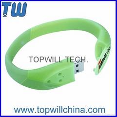 Fashion Wristband USB Flash Drive Pen Drive Logo Printing 2GB 4GB 8GB 16GB 32GB