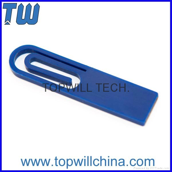 Delicate ABS Paper Clip USB Pen Drive Company Promotional Gift Logo Printing 1