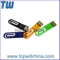 Delicate ABS Paper Clip USB Pen Drive Company Promotional Gift Logo Printing 3