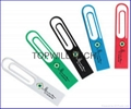Delicate ABS Paper Clip USB Pen Drive Company Promotional Gift Logo Printing 4