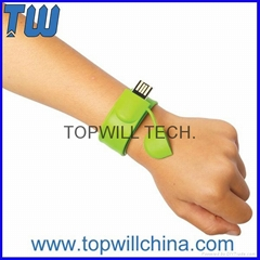 Clap Slap Bracelet Usb Flash Drives Thumb Drive Wristband Design Colorful Gift