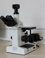 三目倒置金相显微镜4XC-W含软件可配电脑打印机