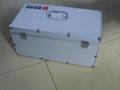 定做鋁合金箱子航空箱手提箱鋁皮箱儀器箱工具箱運輸箱展會箱拉杆  1
