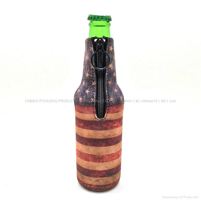 High Quality Neoprene Wine Bottle Cooler , bottle cover  3