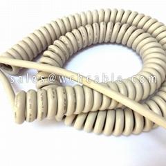 Communication Coiled Spiral Cable UL20353 UL20410 UL20411 UL20413