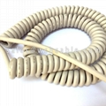 Oil Resistant PUR Coil Spiral Cable UL20549 UL20694 UL20698 UL20724