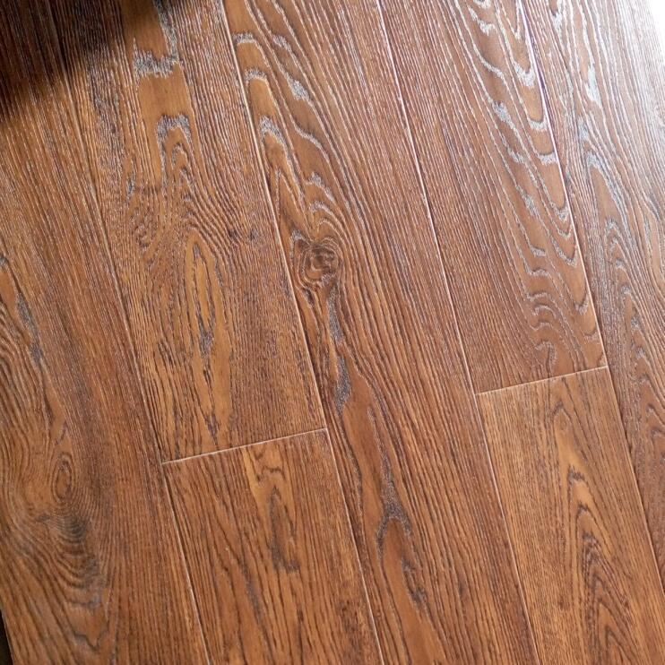 mirror surface 12mm EIR HDF Laminated Parquet floor 3