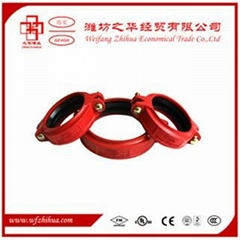 FM UL approval ductile iron grooved pipe fittings