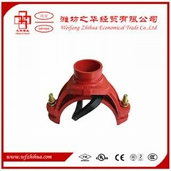 Grooved pipe fitting mechanical tee