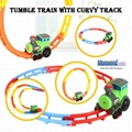 Wacky Train with Curvy Track Tumble Train with Lights Music Vehicle Toys for Chi 2