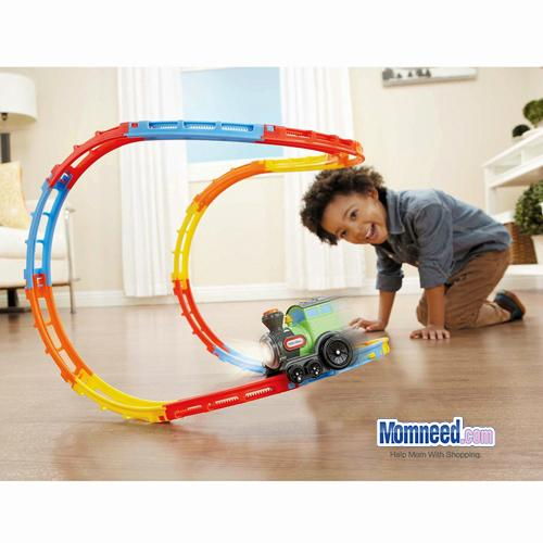 Wacky Train with Curvy Track Tumble Train with Lights Music Vehicle Toys for Chi 4