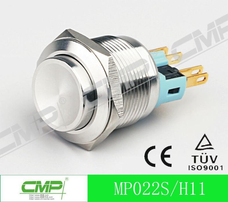22mm Waterproof Illuminated LED Momentary Metal Push Button Switch 2