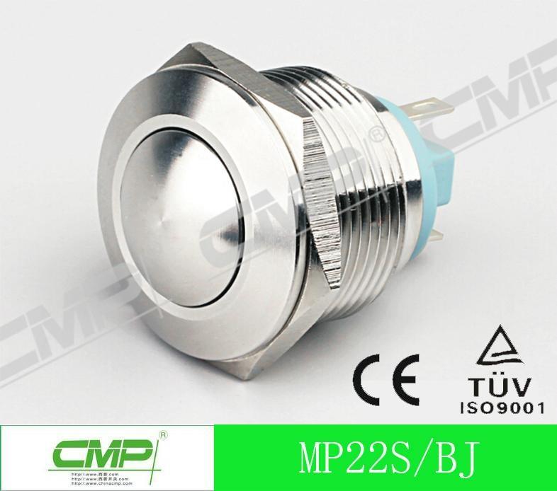 22mm Waterproof Illuminated LED Momentary Metal Push Button Switch 4