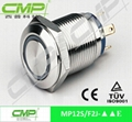 cheap 12mm metal waterproof ring LED push button switch 3