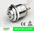 cheap 12mm metal waterproof ring LED push button switch 4