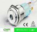 16mm ring illuminated led stainless steel waterproof push button switch 5