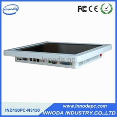White Color All In One Computer With 15'' LCD Panel OEM Fanless Touch Screen PC