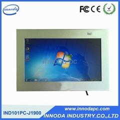 10.1'' Ultrathin Touch Screen Embedded Panel Pc With CNC Techning Technology