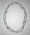 David Yurman White Pearl Cable Wrap Necklace