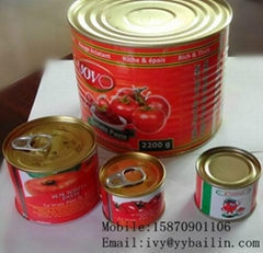 Jiangxi Bailin factory supply high quality canned tomato paste
