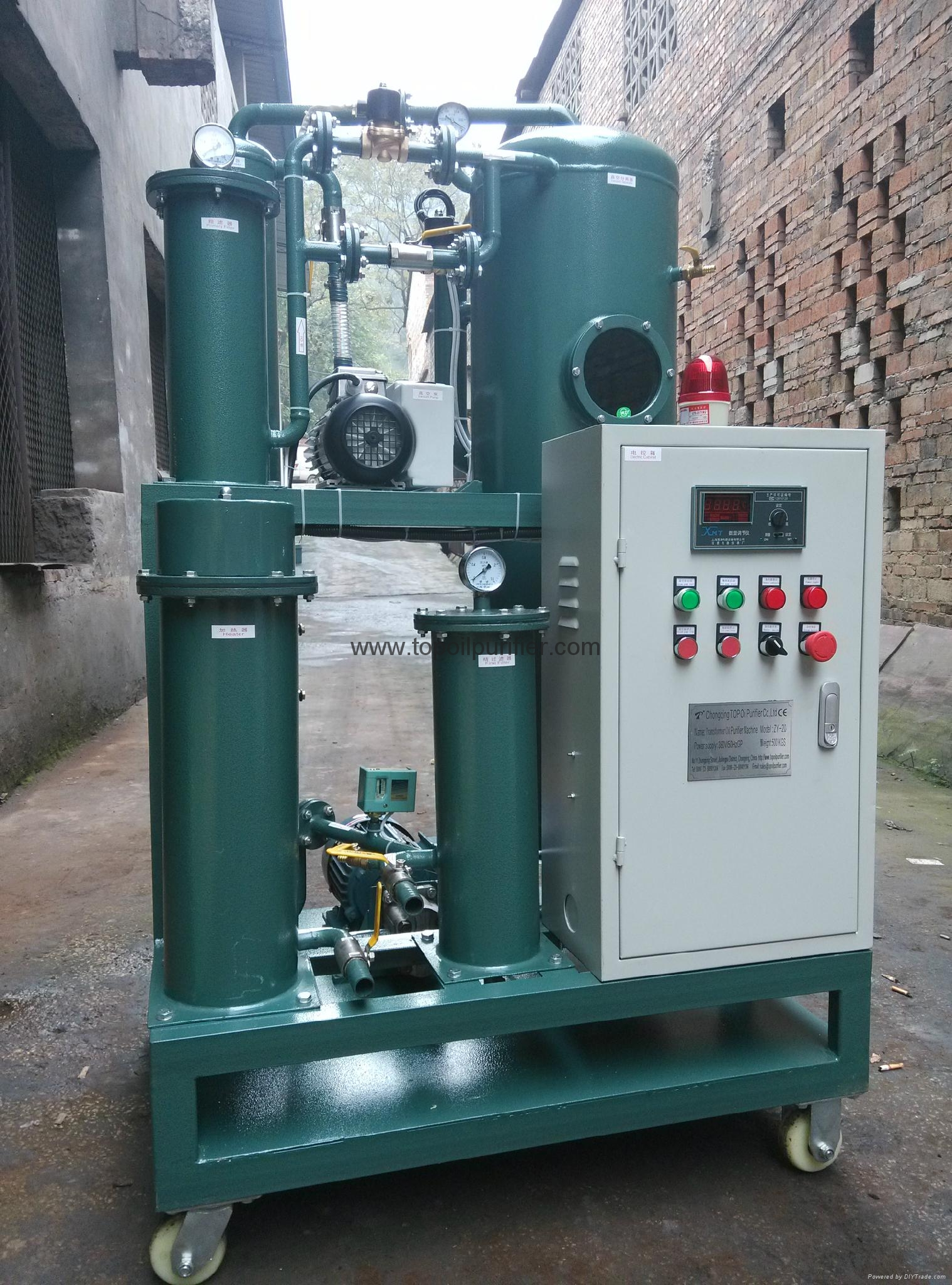 Series ZY automatic transformer oil purifier system with two years warranty  4