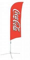 Flying Banner Teardrop banner Beach Flag for advertising