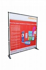 Pop up telescopic banner stand
