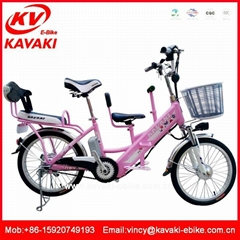 Best selling family bicycle with three seat to children seat electric bike kit