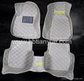 3d PU leather car floor mats full set