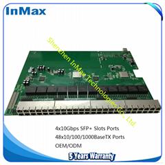 10Gbps 4x10Gbps+48x1000TX RJ45 10G