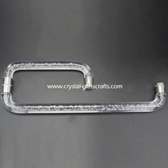 Stainless steel door pull handle with acrylic rod for glass door
