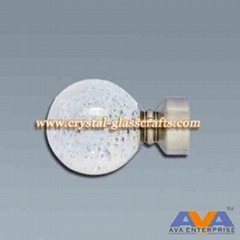 Fashionable custom acrylic curtian rod and finials