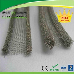 EMI/RFI shielding Knitted copper wire mesh gasket