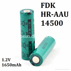 100% Authentic FDK HR-AAU 1650mAh 1.2V Size AA 14500 Ni-MH Rechargeable Battery